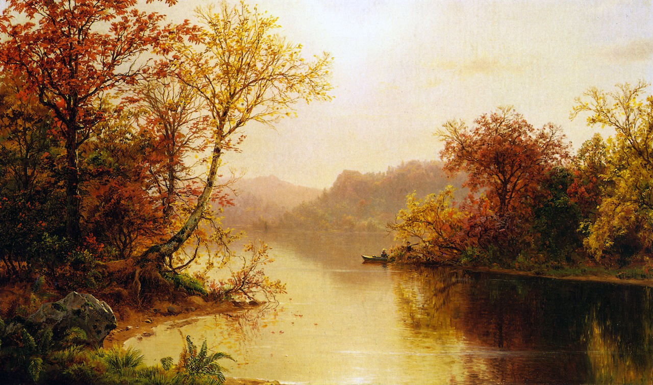 Fall Mountain Lake Wallpaper 19th Century American Paintings Louis Remy Mignot