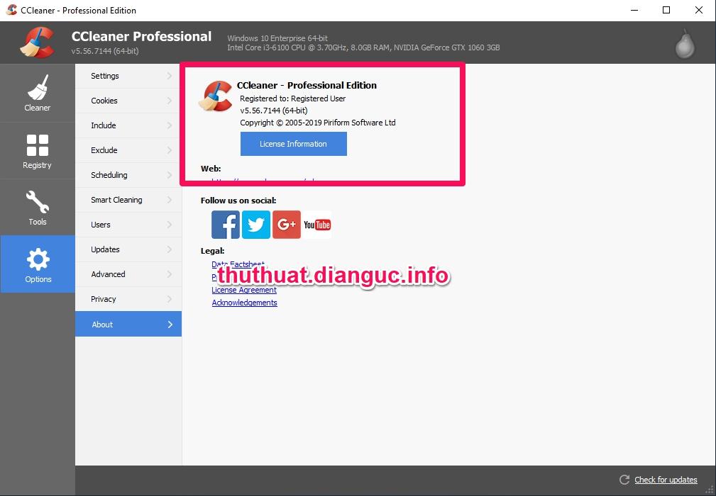Download CCleaner v5.56.7144 Full Key miễn phí mới nhất
