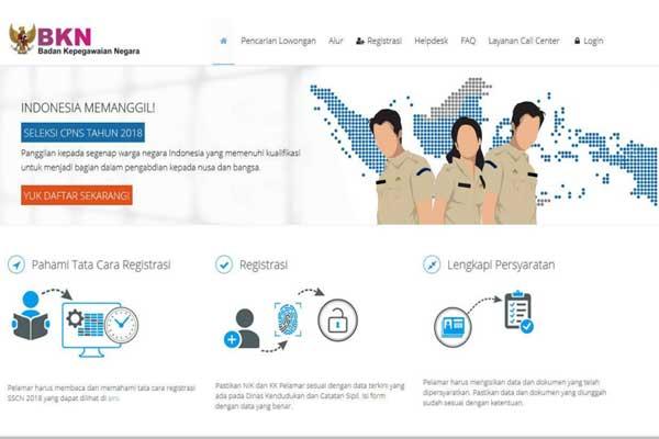 alur dan tata cara pendaftaran cpns 2018