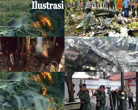 ilustrasi gambar helikopter TNI AD jatuh