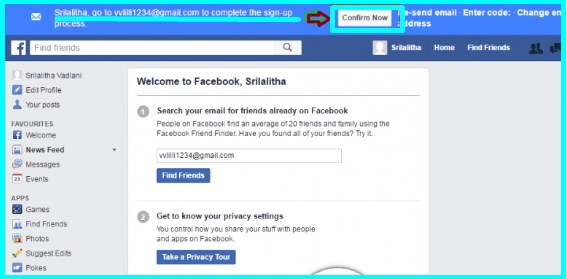how to create new facebook account