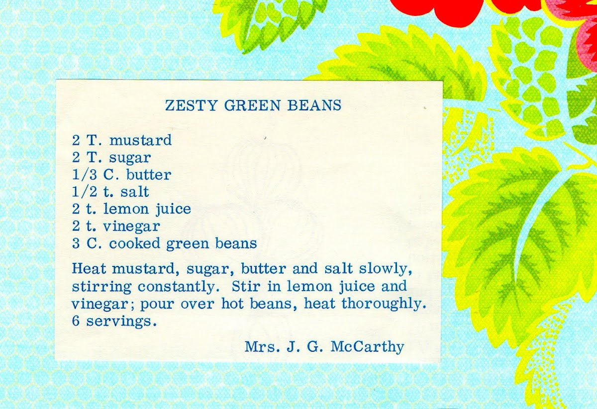 Zesty Green Beans (quick recipe)