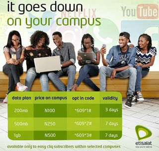 How To Subscribe For Etisalat Easy Cliq Campus Data 2017