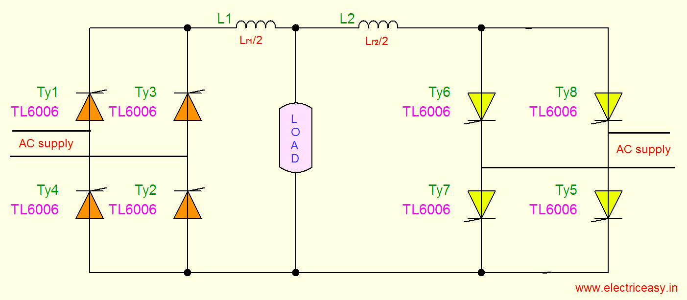 Single And Three Phase Dual Converters Electric Easy Ad Converter Circuit The Below Explains 1 With Circulating Current