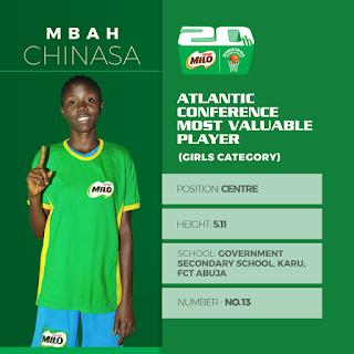 Mbah Chinasa Glory Nestle Milo Basketball Central Conference MVP - Girls Category!