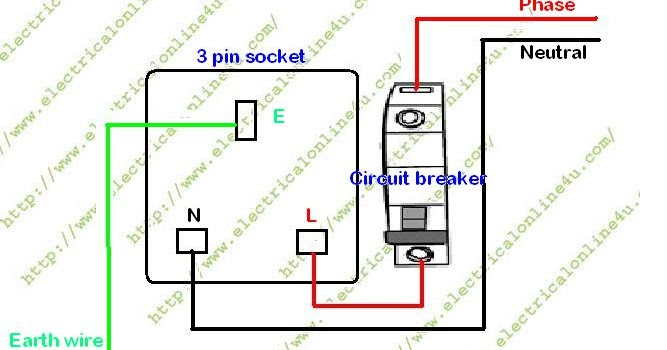How To Wire a Switched 3 Pin Socket ~ Electrical Online 4u ...