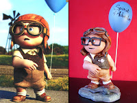 statuine personaggi fantastici modellismo carl up pixar bambino da piccolo action figure modellino personalizzato orme magiche