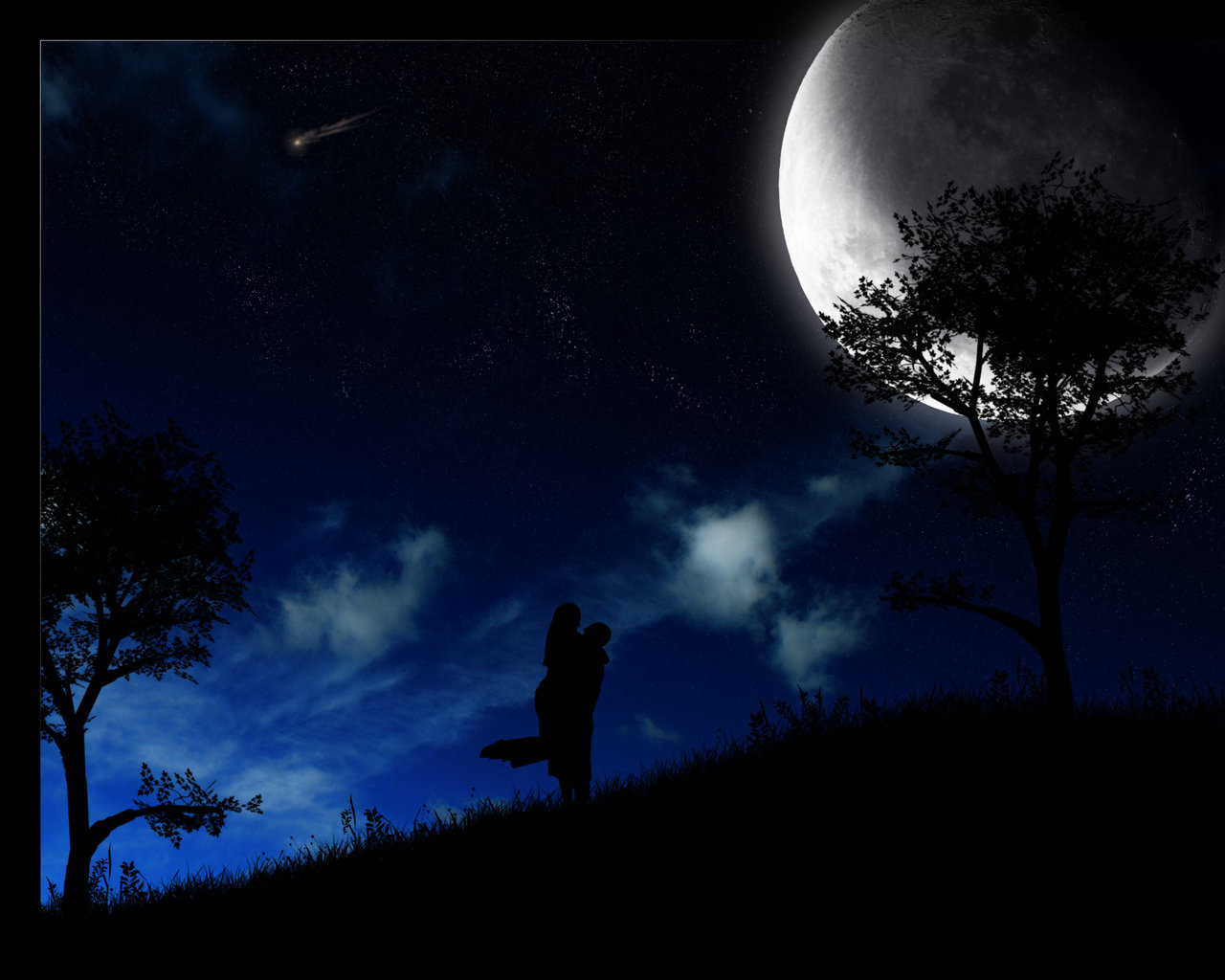 Abstract Night Moon Hd Wallpapers