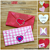 valentines day craft ideas for kids: secret love note paper craft envelopes