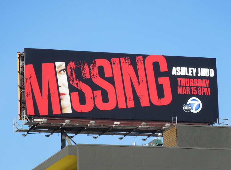 Ashley Judd Missing billboard