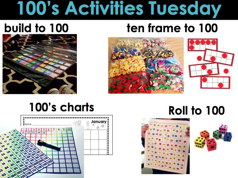 Kindergarten Math Centers - 100\'s Activities Tuesdays Part 3 ...