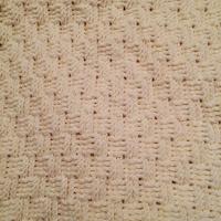 かぎ針で編む バスケット模様のブランケット(おくるみ・ひざかけ)