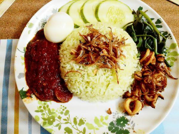 Ramadhan 11 : Resepi Nasi Lemak Pandan