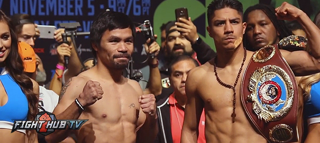 Manny Pacquiao vs. Jessie Vargas Official Weigh-in & Face Off (VIDEO)