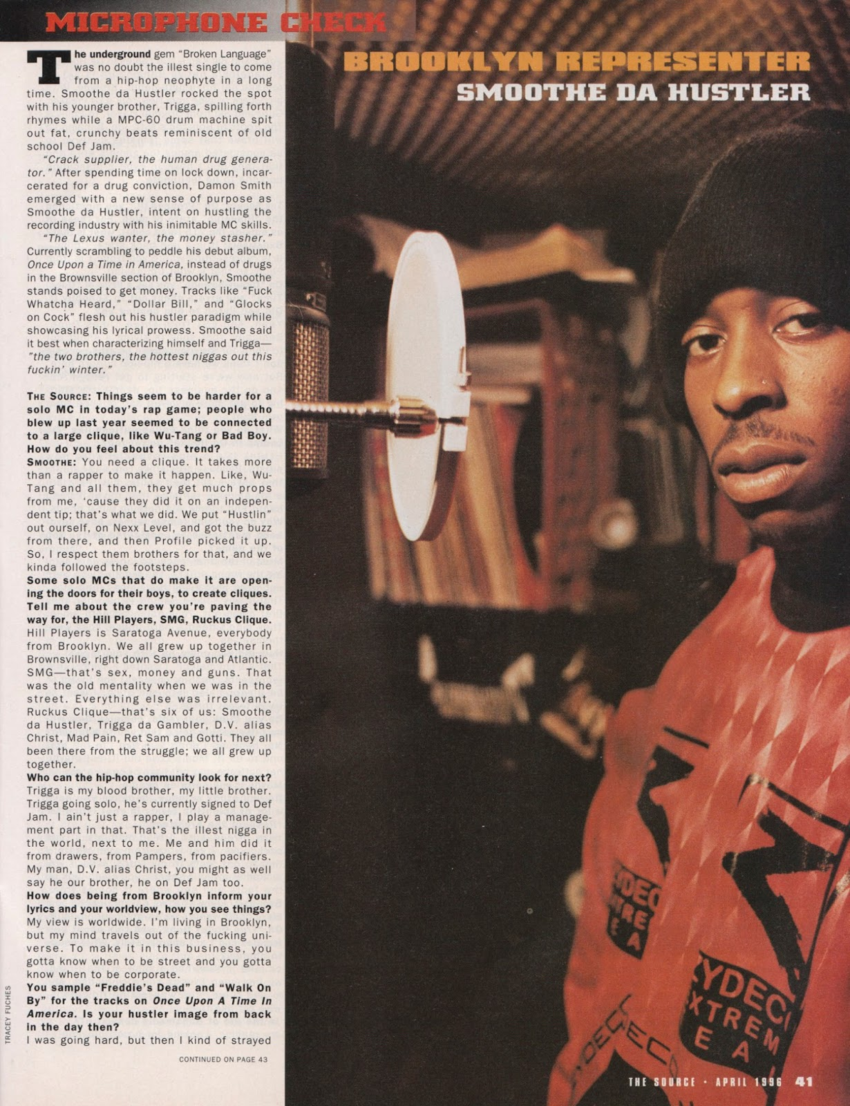 Smoothe Da Hustler Microphone Check The Source 1996