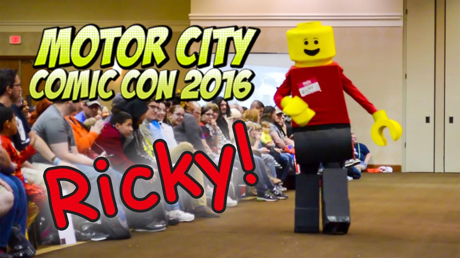 Bricks 39 n blocks ricky at motor city comic con 2016 for Motor city comic con