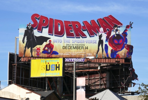 Spider-man Into Spider-verse extension billboard