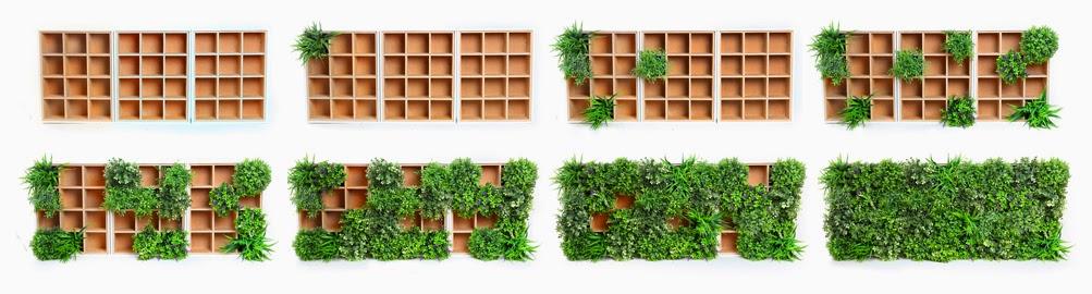 Jard n vertical artificial nuevo sistema modular for Decoracion jardin vertical artificial