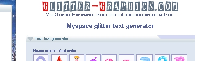 Myspace Glitter Text Generator - Solo Nuevas