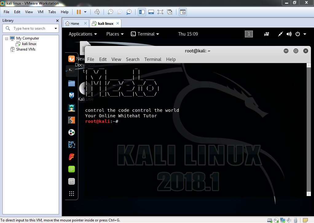 White Hat Hacker for you  How to install kali linux 2018.1 in vmware ... 7fb9f9d6fdc