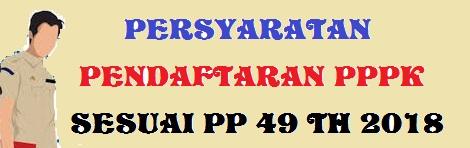 Persyaratan Pendaftaran PPPK Jabatan Fungsional (JF) Tahun 2019