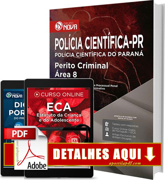 Apostila Polícia Científica PR 2017 PDF Impressa Perito Criminal Área 8