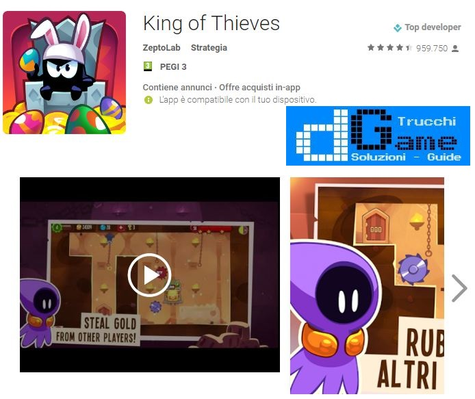Soluzioni King of Thieves livello 81 82 83 84 85 86 87 88 89 90 | Trucchi e Walkthrough level