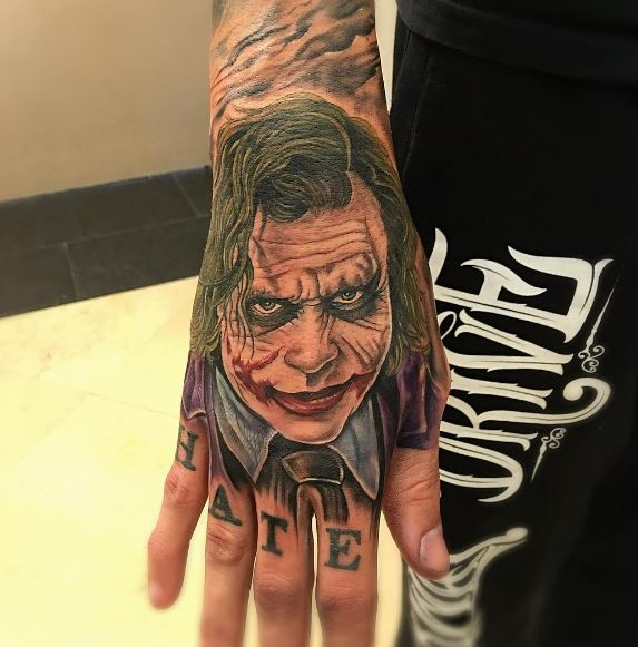 Joker Hand Tattoos: 50 Best Hand Tattoos For Women & Men (2018