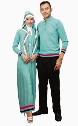 Model Pakaian Muslim Pesta Sarimbit Keluarga Terbaru