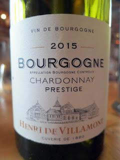 Henri de Villamont Bourgogne Chardonnay Prestige 2015 (88+ pts)