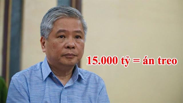 Gây thiệt hại 15.000 tỷ của dân: Phó thống đốc ngân hàng Đặng Thanh Bình được hưởng án treo