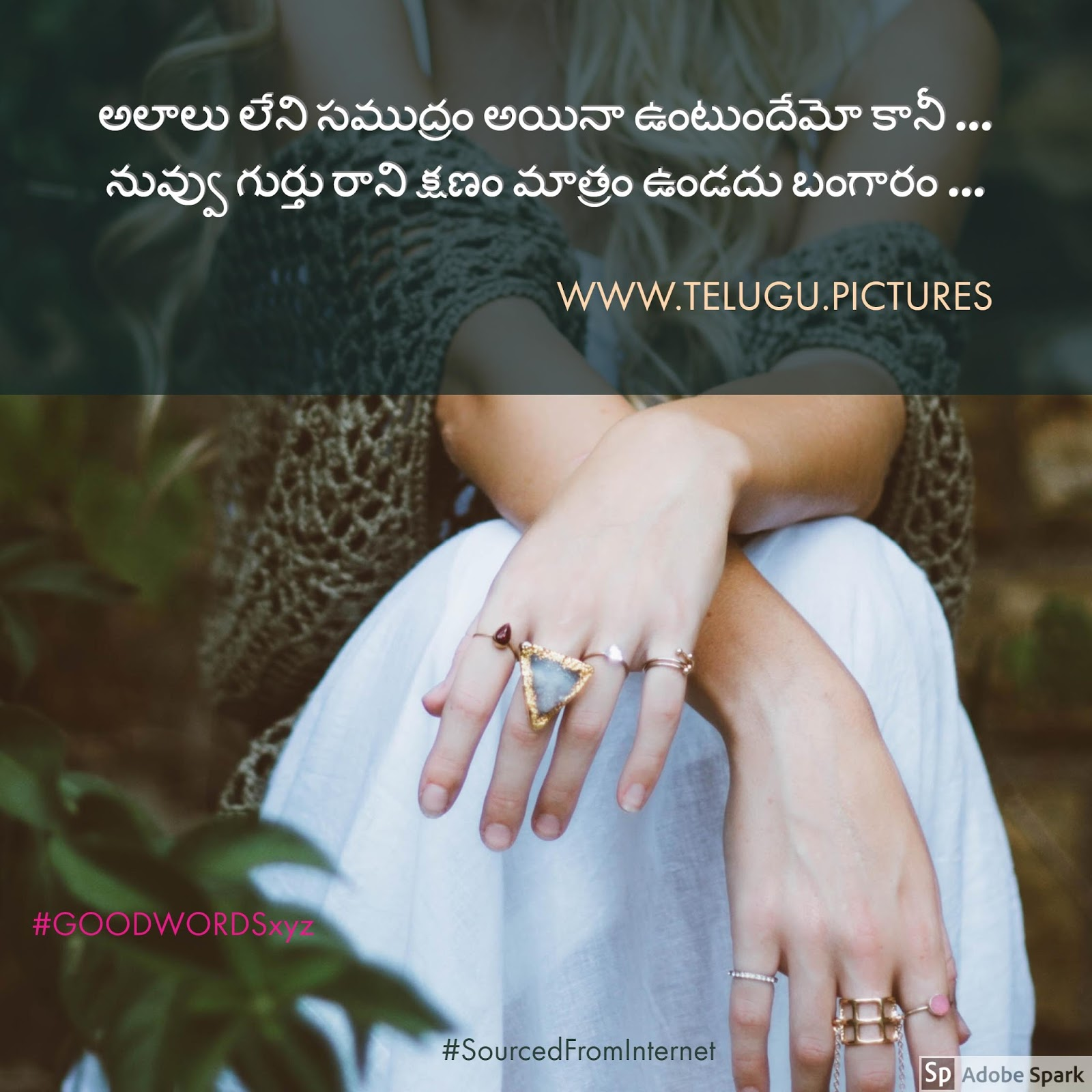 Telugu Picture Messages First Love Quote On Telugu Pictures Website