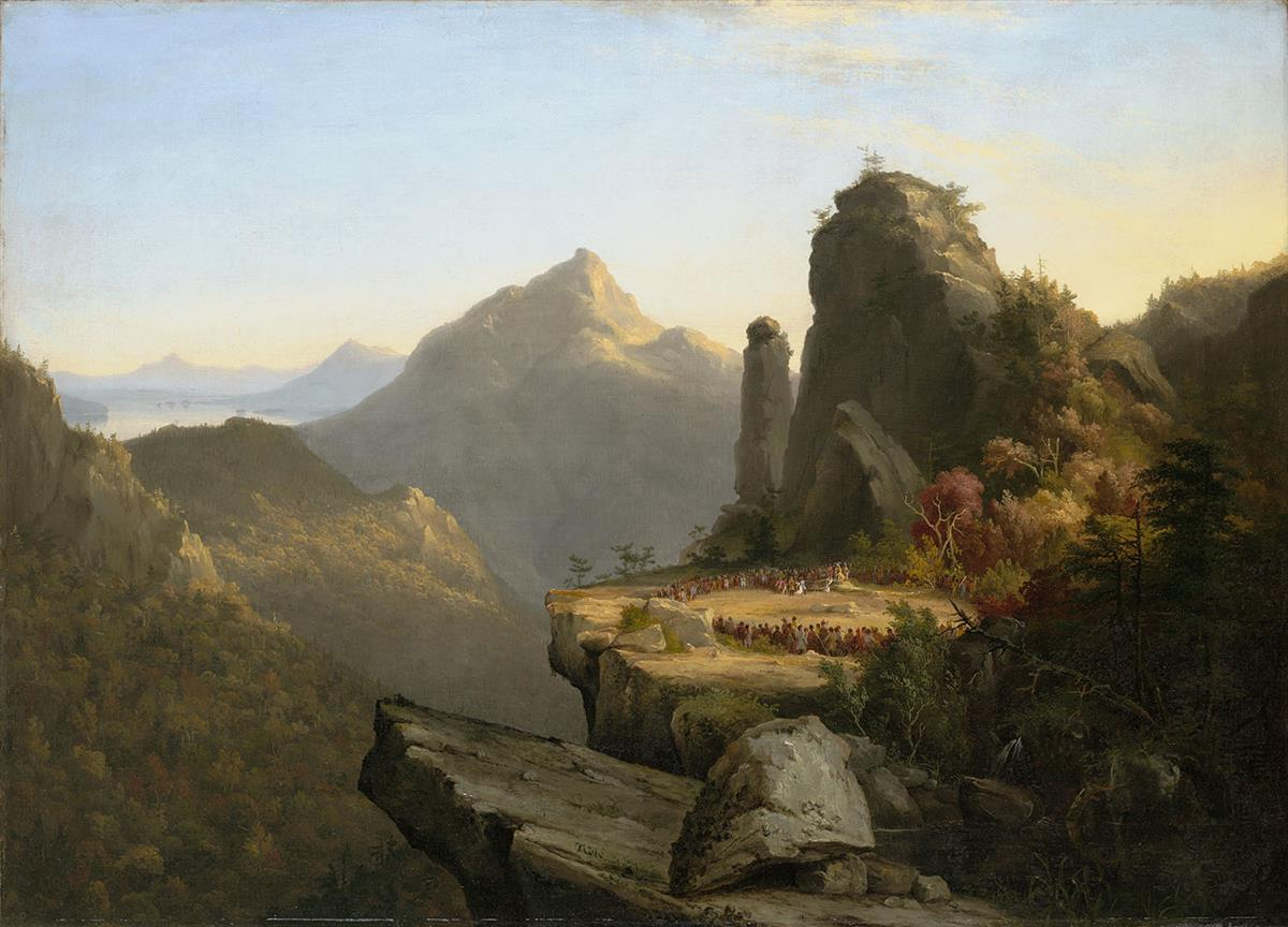 Thomas Cole Scene from The Last of the Mohicans