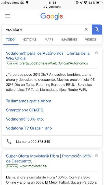 Movistar se cuela en el resultado de Vodafone