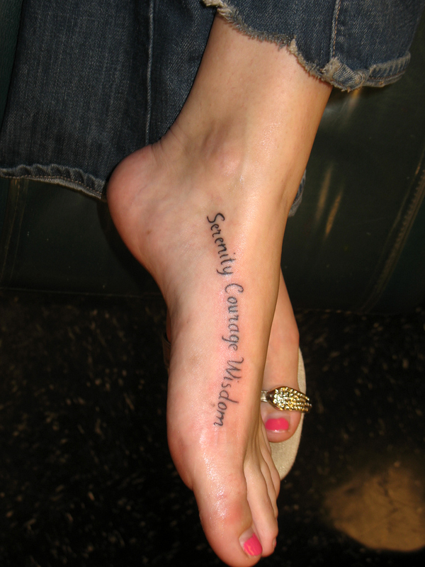 Image of: Ankle Tattoos Foot Quote Tattoo Free Gallery Quote Foot Tattoos Free Gallery