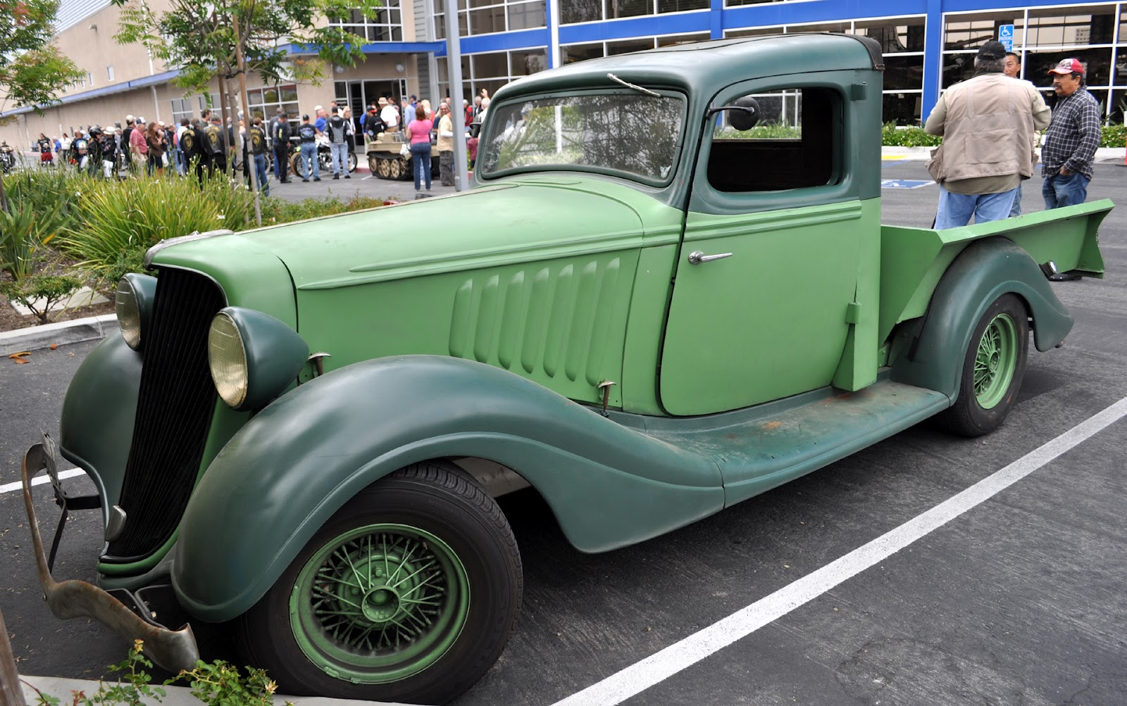 wow, a 34 Husdon Terraplane garage made truck from a car, because ...