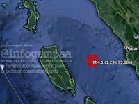 Video Gempa Padang di Malam Takbiran Idul Adha, Warga Berhamburan