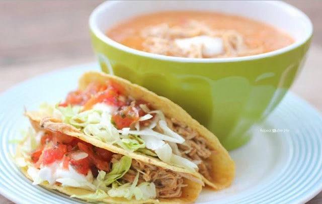 Crock Pot Ranch Chicken Tacos