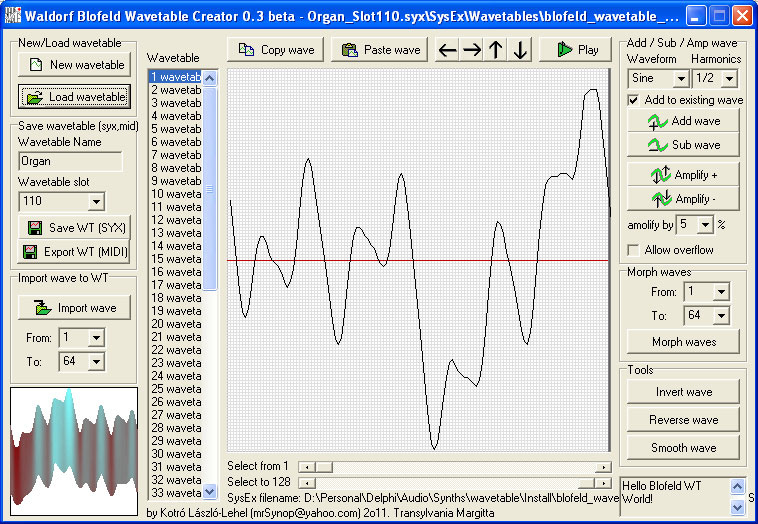 MATRIXSYNTH: Waldorf Blofeld Wavetable Creator 0 3 beta