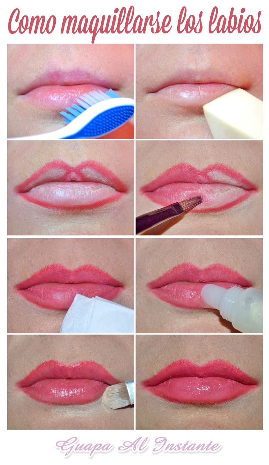 C mo maquillarse los labios perfectos paso a paso y sin - Como maquillarse paso apaso ...