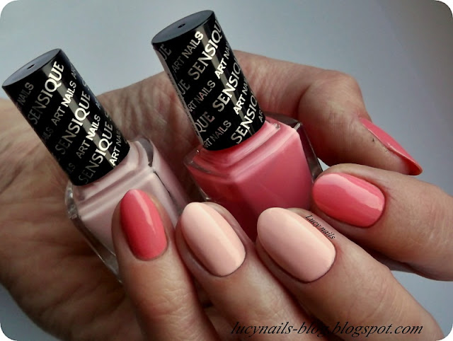 SENSIQUE Art Nails nr 324 Guava i 325 Magnolia