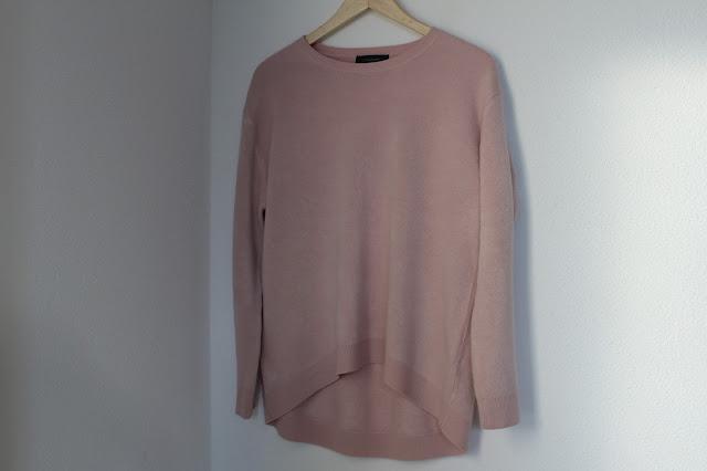 Roze warme trui Primark Amsterdam shoplog Zeeuws modemeisje