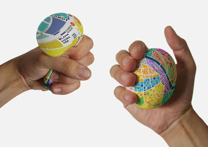 15+ Of The Best Traveler Gift Ideas Besides Actual Plane Tickets - Stress Ball Map Which Zooms In When You Squeeze It