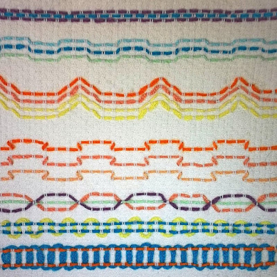 More simple huck weaving samples