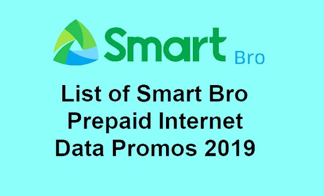 The Complete List of Smart Bro Prepaid Internet Data Promos 2019