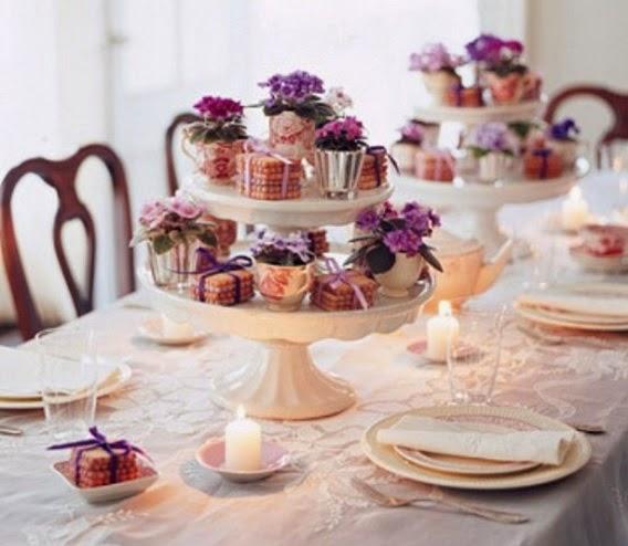 arranjos para a mesa do Dia das Mães