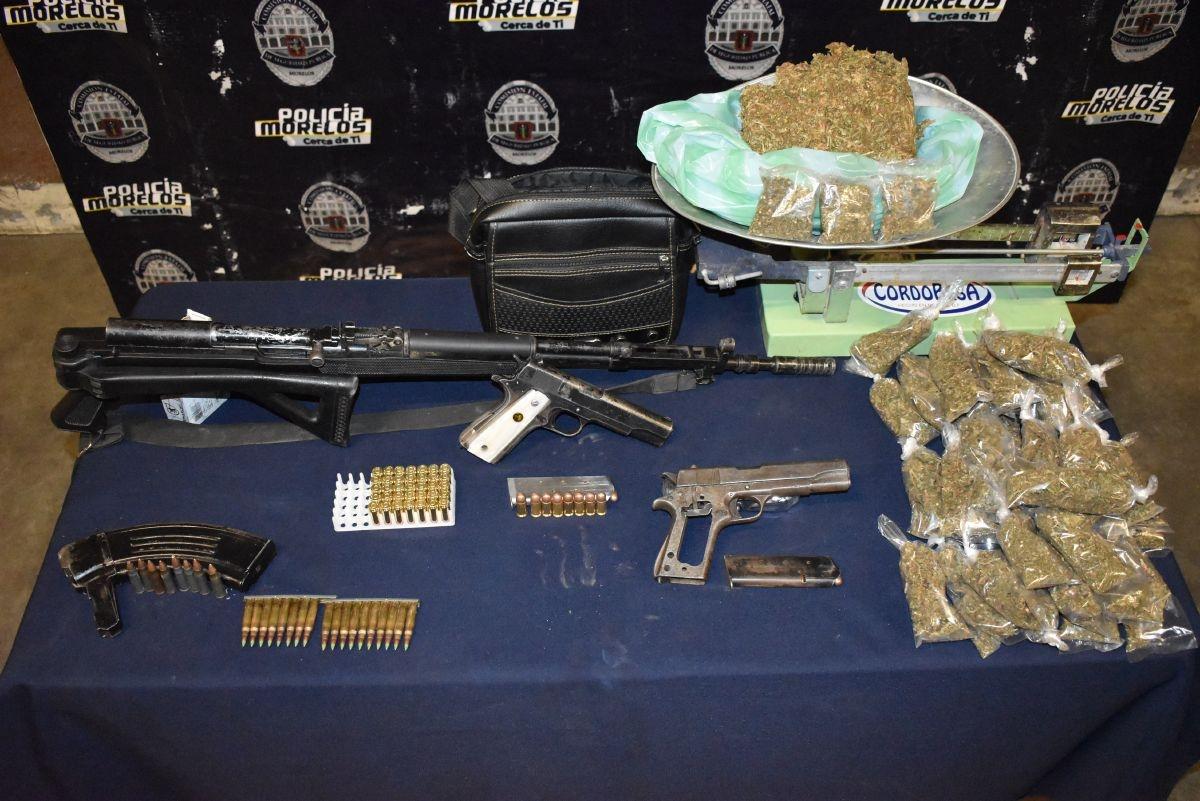 Capturan en Morelos a sicarios en posesión de arsenal