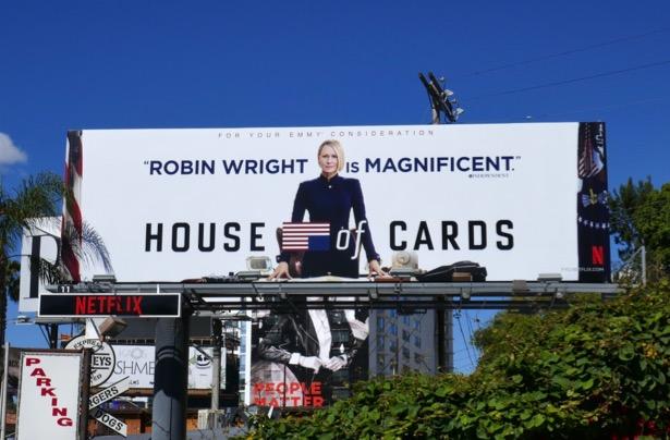 House of Cards 2019 Emmy FYC billboard