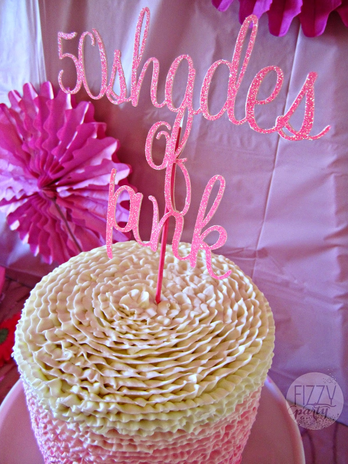 Pink Party cake by Dream Cakes, topper by Bella Grey Designs