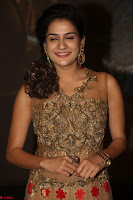 Jenny in brown transparent sleeveless anarkali dress at Shamanthakamani pre release function ~  Exclusive 049.JPG